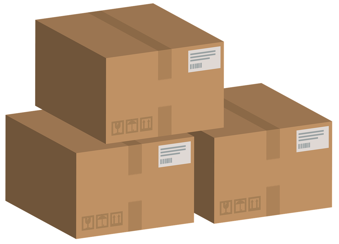 carton, boxes, set